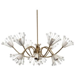 Messinglampe von Emil Stejnar Entworfen und Hergestellt von Rupert Nikoll