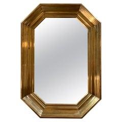 Midcentury Brass Mirror