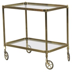 Midcentury Brass Serving Trolley or Bar Cart