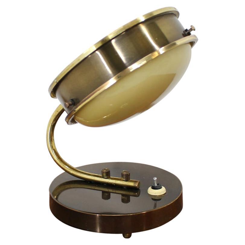 Midcentury Brass Table Lamp, 1950s