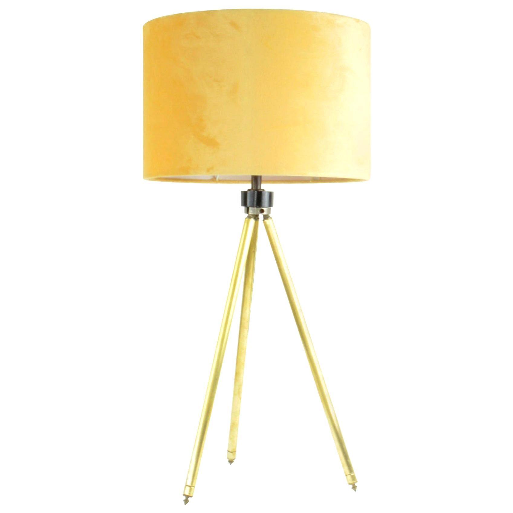 Midcentury Brass Telescopic Tripod Table Lamp