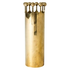 Midcentury Brass Vase by Pierre Forssell
