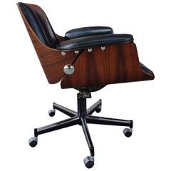 Midcentury Brazilian Office Chair by Carlo Fongaro