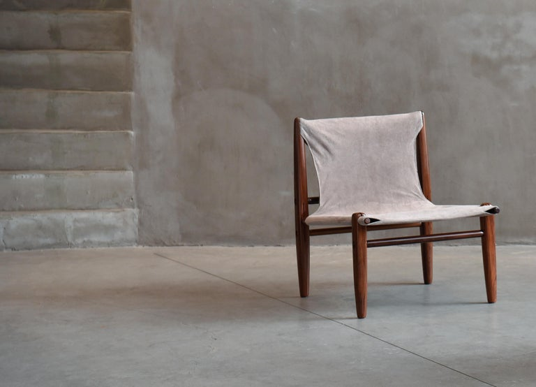 Midcentury Brazilian Armchair in Rosewood and Leather by unknown author, 1960s For Sale 3