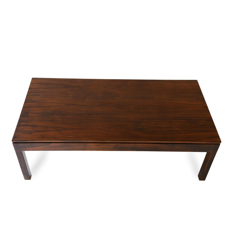 Midcentury Brazilian coffee table in rosewood by Geraldo de Barros, 1960s.