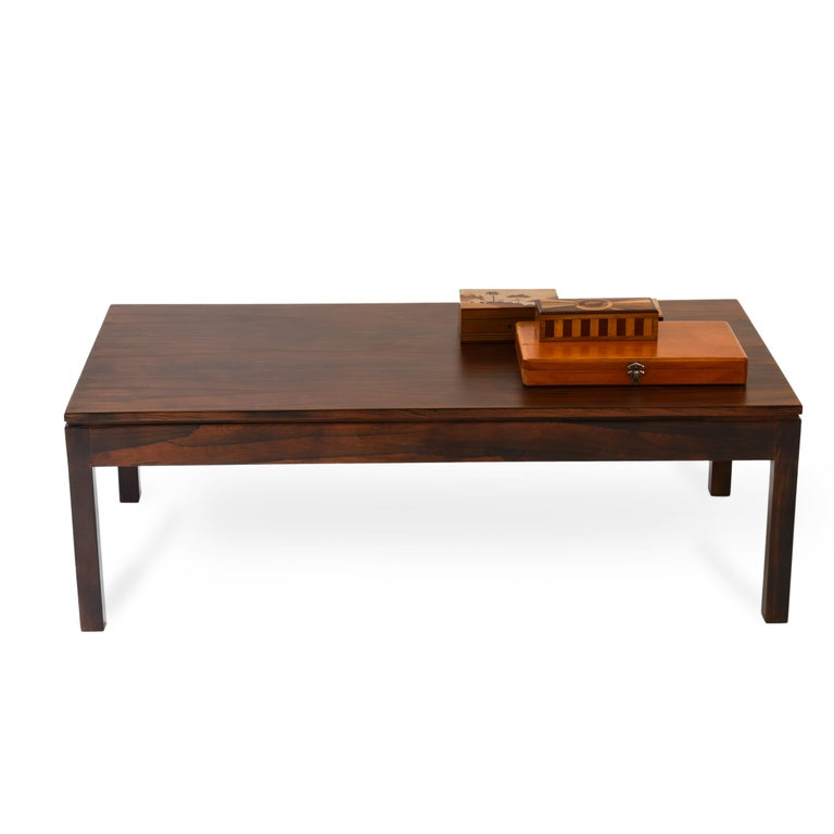 Mid-Century Modern Midcentury Brazilian Coffee Table in Rosewood by Geraldo de Barros, 1960s For Sale