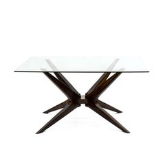 Midcentury Brazilian Dining Table with Rosewood Structure, 1960s
