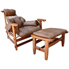 Midcentury Brazilian Lounge Chair by Jean Gillon