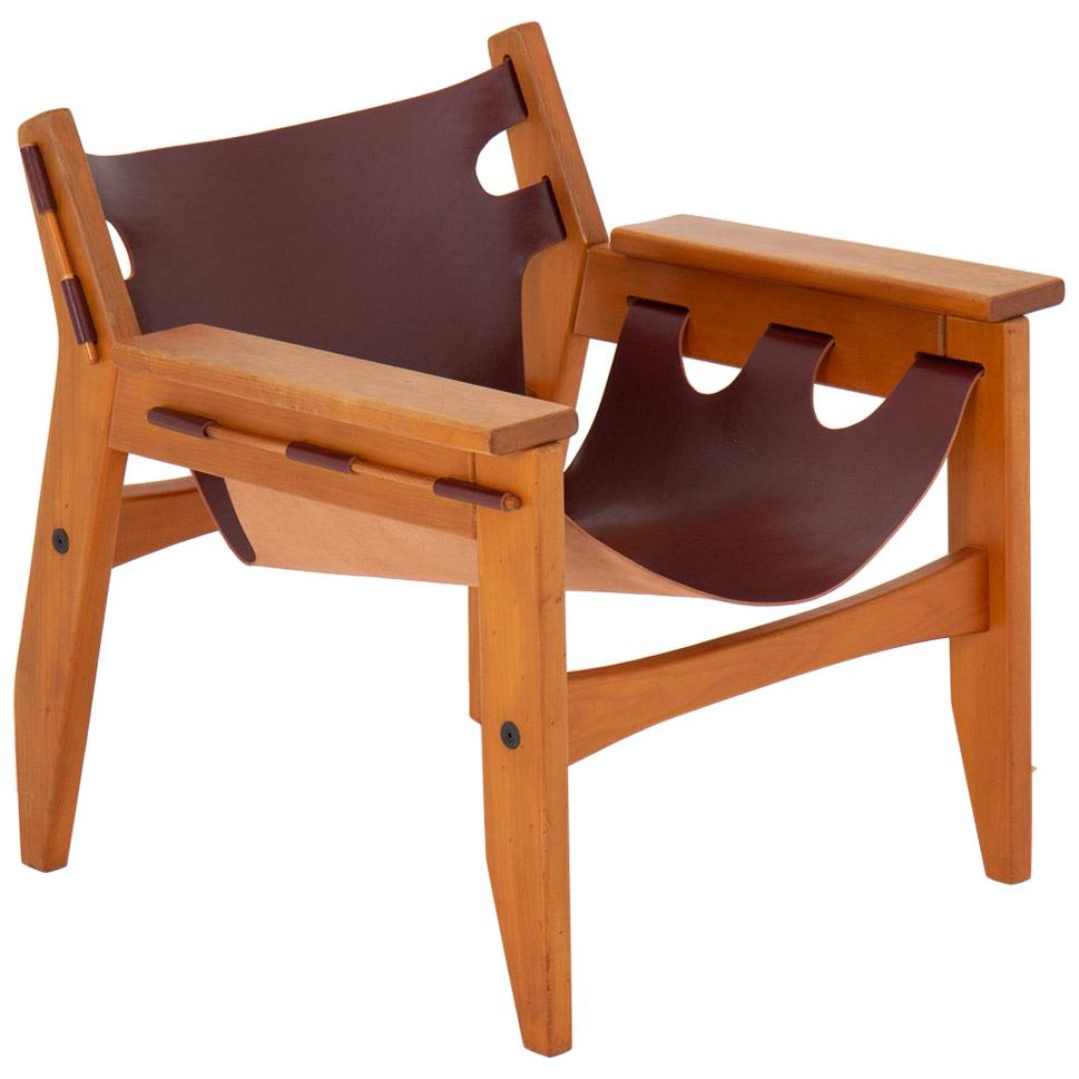"""Midcentury Brazilian Lounge Chair Model """"Kilin"""" by Sergio Rodrigues"""