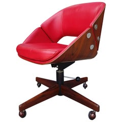 Midcentury Brazilian Office Chair by Jean Gillon