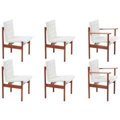 Midcentury Brazilian Rosewood Dining Chairs by Percival Lafer