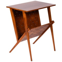 Midcentury Brazilian side table in plywood and wood by Zanine Caldas, 1950s