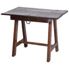 Midcentury Brazilian Sideboard in Rustic Brazilian Wood with One Drawer, 1940s
