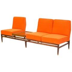 Midcentury Brazilian Wood Modular Sofa, Bench and Coffee Table, 1960s