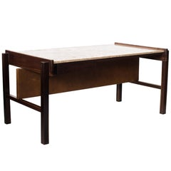 Midcentury Brazilian Writing Table in Rosewood by Unknown Author, 1960s