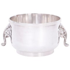 Midcentury British Colonial Silver Plated Jardinière