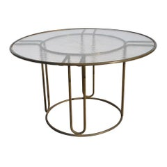 Midcentury Bronze Outdoor Indoor Patio Table by Walter Lamb and Brown J