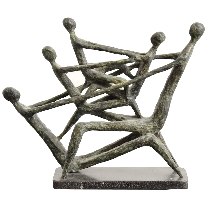 Midcentury Bronze Sculpture by Azriel Awret