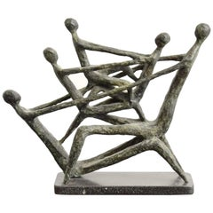 Midcentury Bronze Sculpture by Azriel Awret