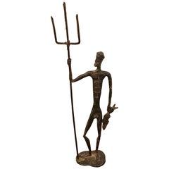 Midcentury Bronze Sculpture of Poseidon