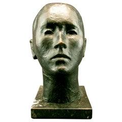Mid 20th Century Brutalist Bronze Bust by Pedro Pruna O'Cerans, Spanish