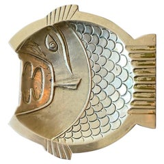 Midcentury Brutalist Fish Tray Sculpture