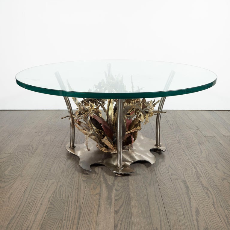 Midcentury Brutalist Handcrafted Sculptural Cocktail Table by Silas Seandel In Excellent Condition For Sale In New York, NY