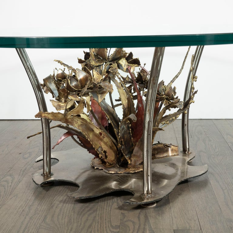 Midcentury Brutalist Handcrafted Sculptural Cocktail Table by Silas Seandel For Sale 1