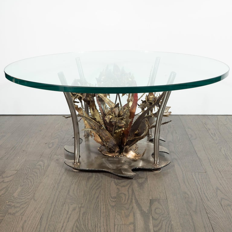 Midcentury Brutalist Handcrafted Sculptural Cocktail Table by Silas Seandel For Sale 2
