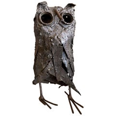 Midcentury Brutalist Owl Sculpture