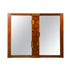 Midcentury Brutalist Style Wall Mirror