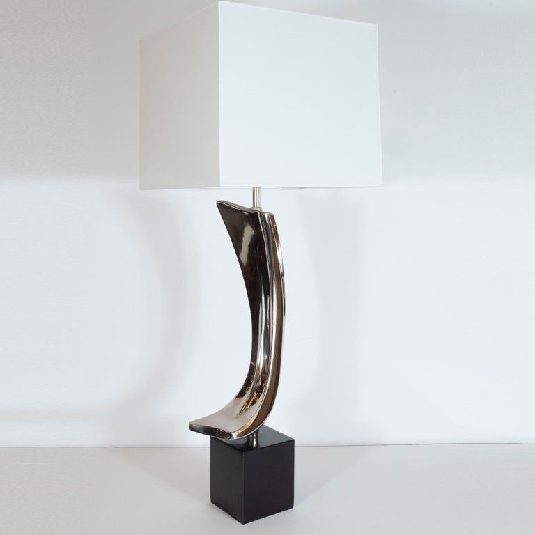 American Midcentury Brutalist Table Lamp by Maurizio Tempestini for Laurel Lamp Co. For Sale