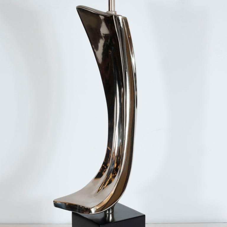 Midcentury Brutalist Table Lamp by Maurizio Tempestini for Laurel Lamp Co. In Excellent Condition For Sale In New York, NY