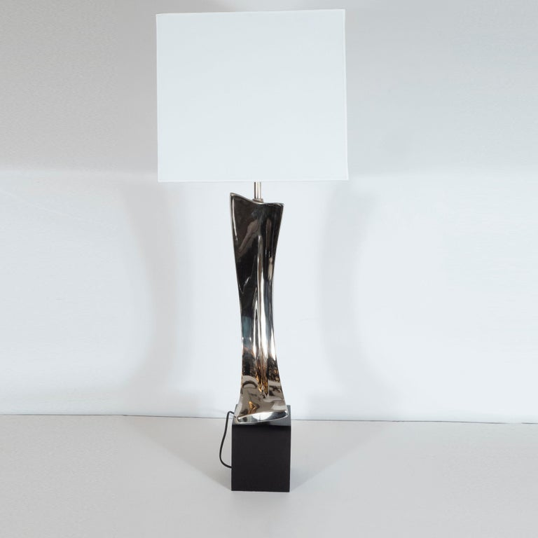 Mid-20th Century Midcentury Brutalist Table Lamp by Maurizio Tempestini for Laurel Lamp Co. For Sale