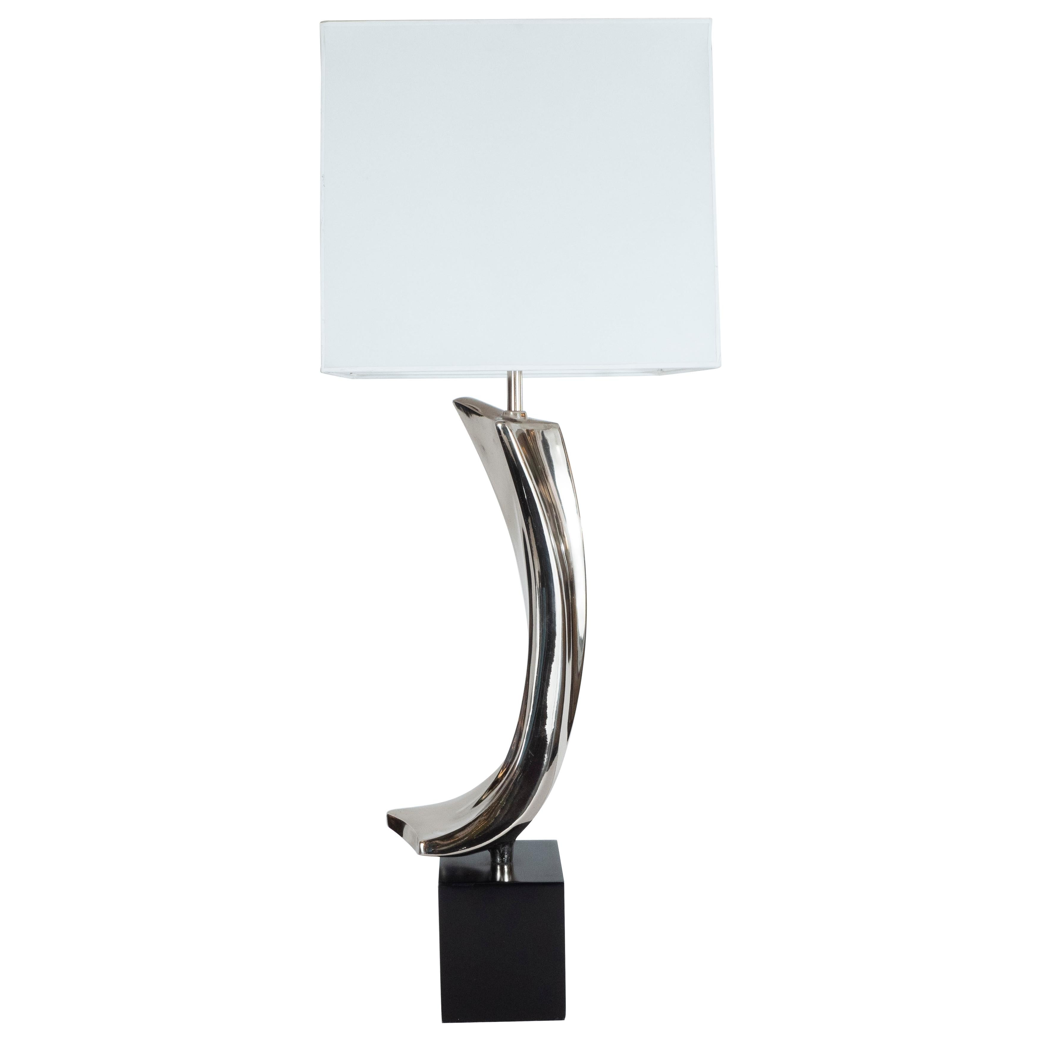 Midcentury Brutalist Table Lamp by Weiss & Barr for Laurel Lamp Co.