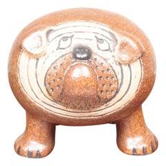 Midcentury Bulldog Figurine by Lisa Larson, 1960s