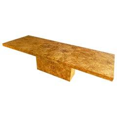 Midcentury Burl Wood Pedestal Dining Table by Arthur Umanoff for Dillingham