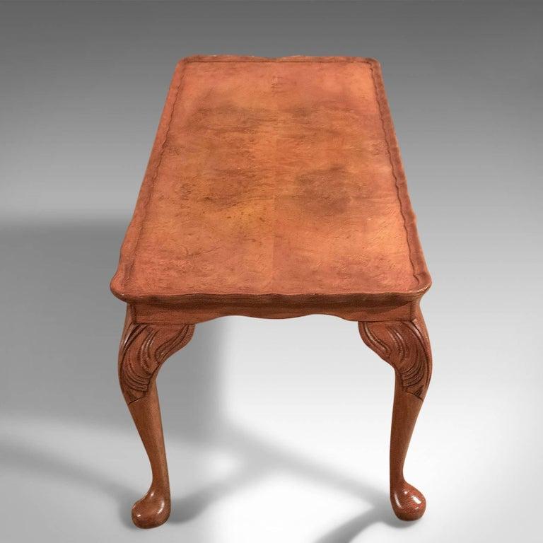 Victorian Midcentury Burr Walnut, Pie Crust Coffee Table For Sale