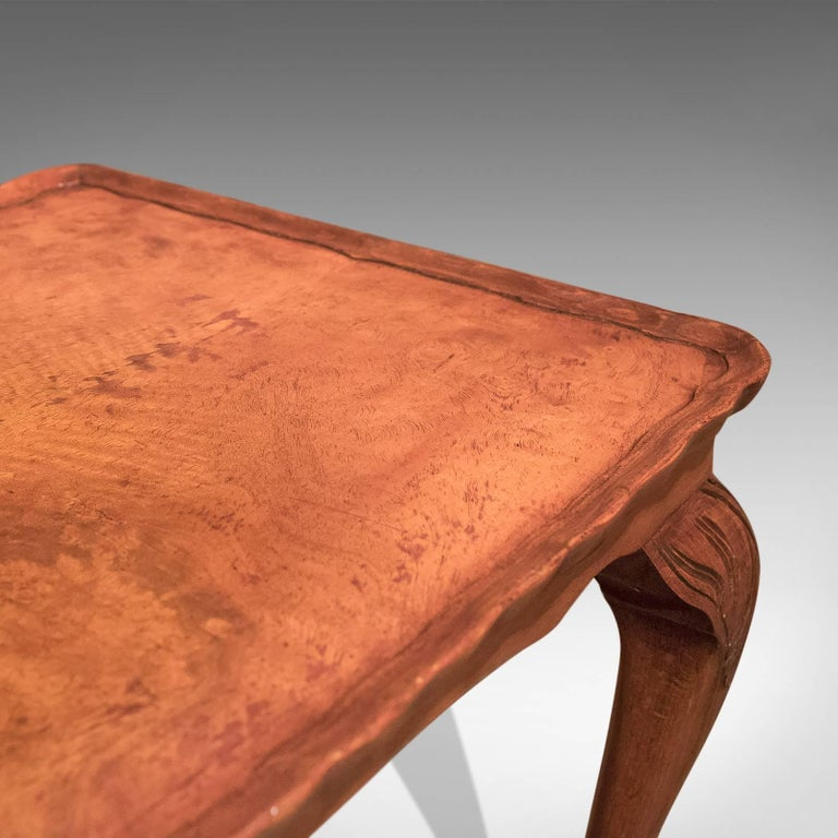 Midcentury Burr Walnut, Pie Crust Coffee Table For Sale 1