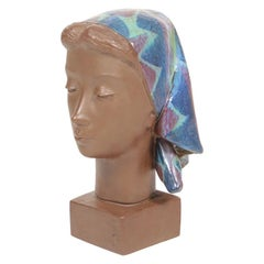 Midcentury Busts in Ceramic Designed Johannes Hedegaard, 1960s