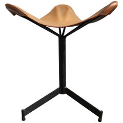 Midcentury Butterfly Sling Ottoman or Stool by William Katavolos
