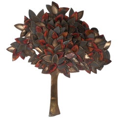 Midcentury C. Jere Style Tree of Life Wall Art