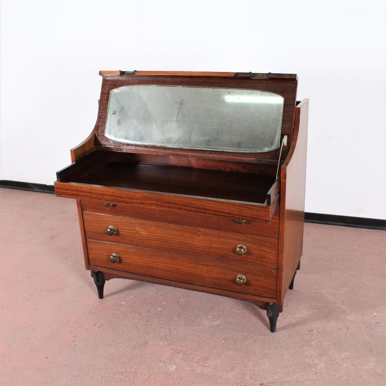 Midcentury C. Salocchi for Sormani Chest of Drawers with Vanity, 1960s, Italy For Sale 3