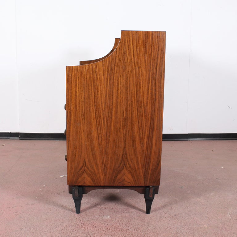 Italian Midcentury C. Salocchi for Sormani Chest of Drawers with Vanity, 1960s, Italy For Sale