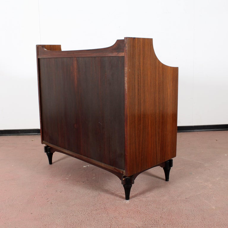 Mirror Midcentury C. Salocchi for Sormani Chest of Drawers with Vanity, 1960s, Italy For Sale