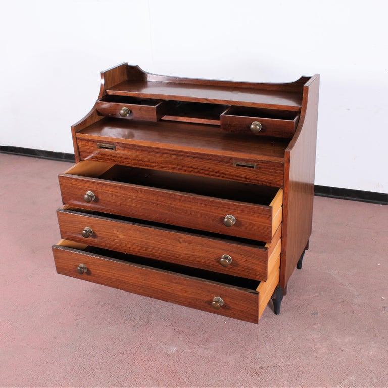 Midcentury C. Salocchi for Sormani Chest of Drawers with Vanity, 1960s, Italy For Sale 2