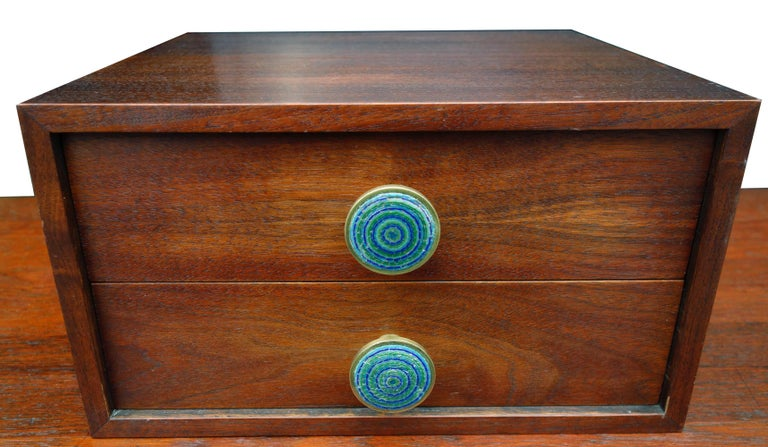 Midcentury Cabinet Top Set of Drawers For Sale 4