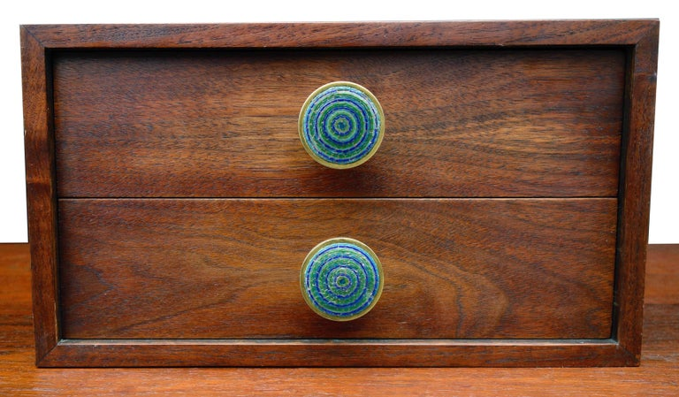 Midcentury Cabinet Top Set of Drawers For Sale 5