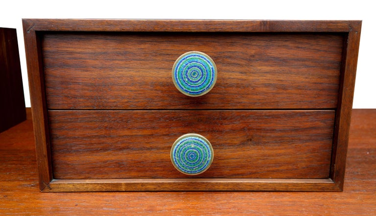 Midcentury Cabinet Top Set of Drawers For Sale 7