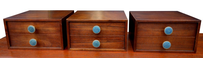 Mid-Century Modern Midcentury Cabinet Top Set of Drawers For Sale